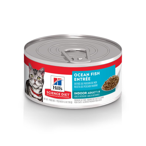 Hill's Science Diet Adult Indoor Ocean Fish Entree Canned Wet Cat Food
