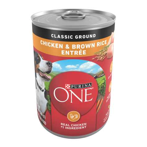 Purina ONE SmartBlend Natural Classic Ground Chicken & Brown Rice Entree Adult Wet Dog Food