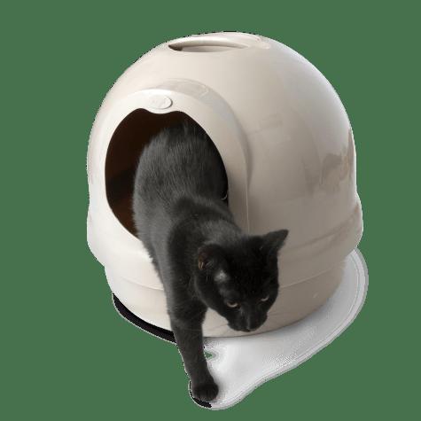 Booda Dome Covered Litter Box in Titanium