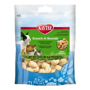 Kaytee Fiesta Krunch-A-Rounds with Peanut Center for All Small Animals