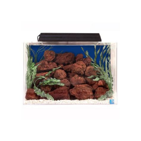 SeaClear Rectangular 15 Gallon Aquarium Combos in Blue
