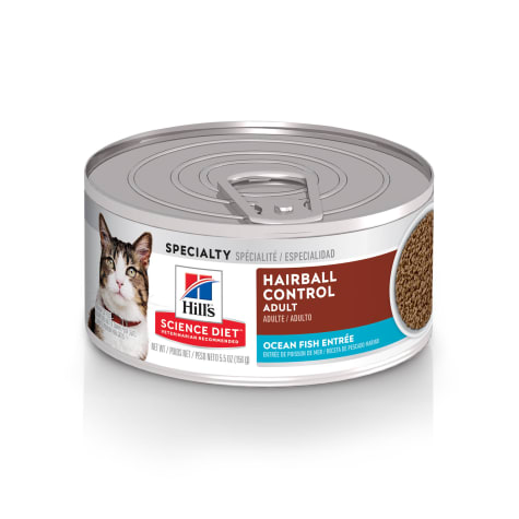 Hill's Science Diet Adult Hairball Control Ocean Fish Entree Canned Cat Food