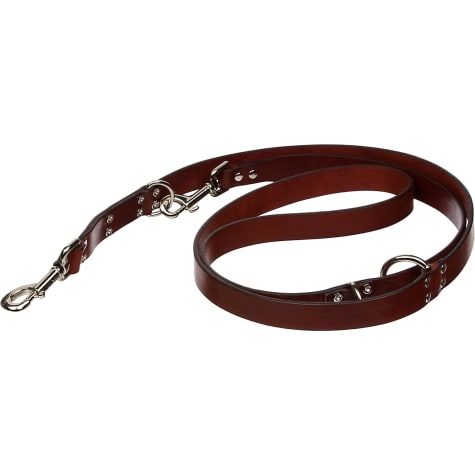 Circle T Euro Leather Lead in Brown, 1