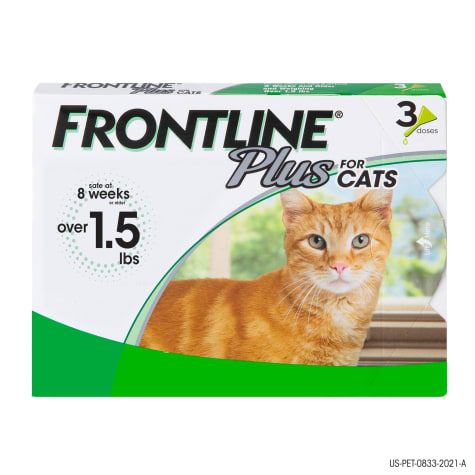 FRONTLINE Plus Flea and Tick Treatment for Cats over 1.5 lbs.