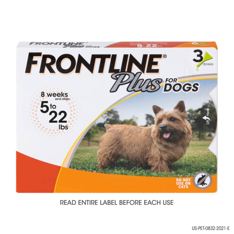FRONTLINE Plus Flea and Tick Treatment for Small Dogs Upto 5 to 22 lbs.