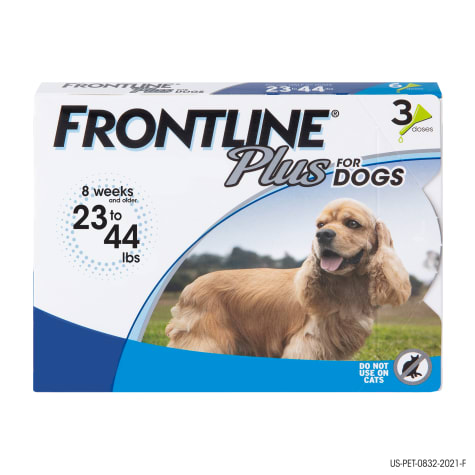 FRONTLINE Plus Flea and Tick Treatment for Medium Dogs Up to 23 to 44 lbs.