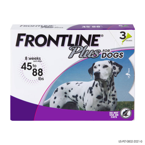 FRONTLINE Plus Flea and Tick Treatment for Large Dogs Up to 45 to 88 lbs.