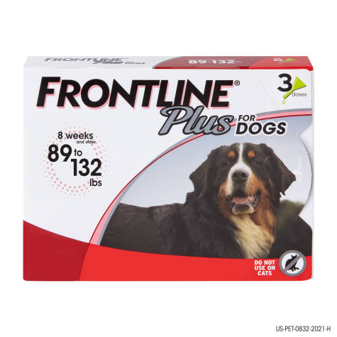 FRONTLINE Plus Flea and Tick Treatment for X-Large Dogs Up to 89 to 132 lbs.