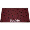 Drymate Red & Gray Stripes Personalized Pet Placemat