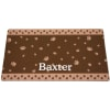 Drymate Brown & Tan Paw Border Personalized Cat Litter Box Mat
