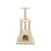 Animaze 4-Level Tan Cat Tree with Dual Entry