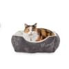Harmony Grey Rectangular Cat Bed