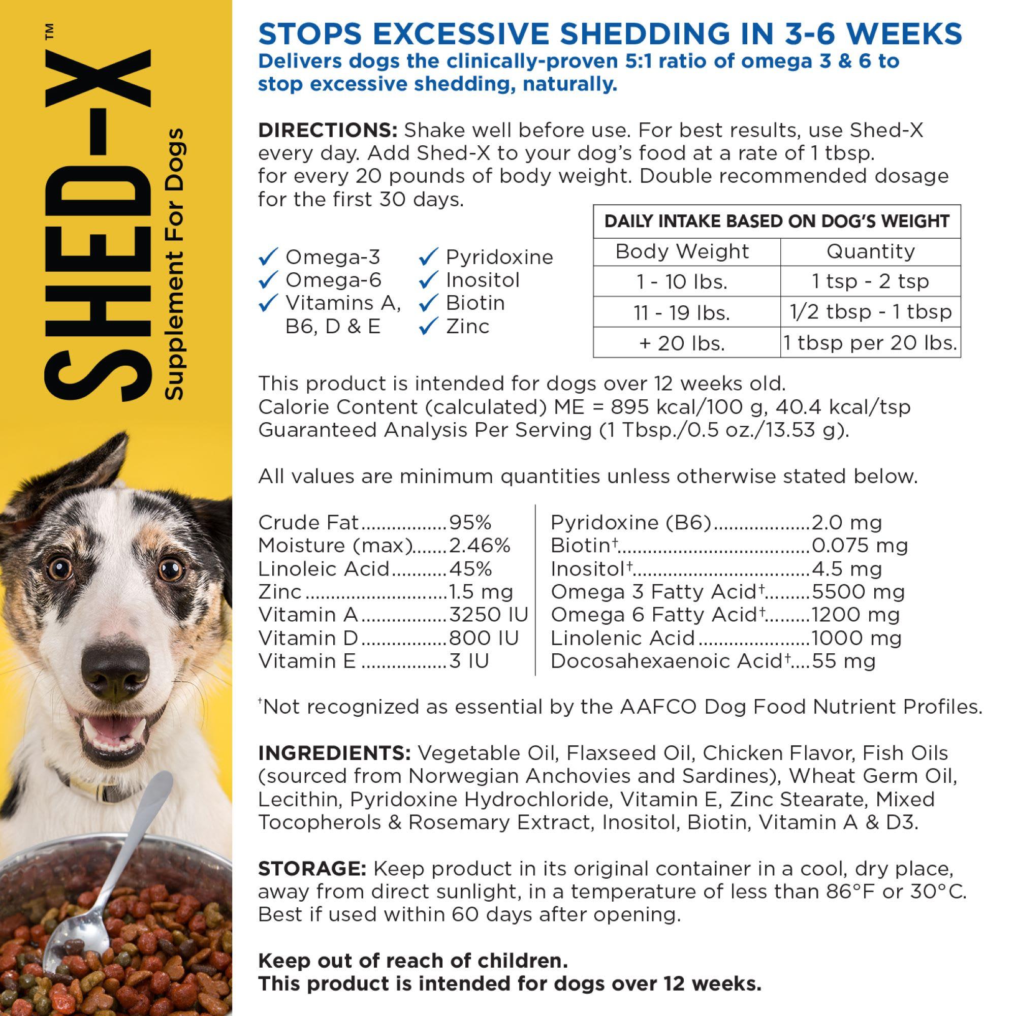 Shed X Dermaplex Liquid Supplement For