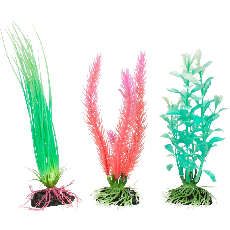Imagitarium Glow In The Dark Variety Pack Plastic Aquarium Plants Petco