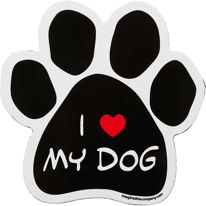 Trucks GIANT SIZE!! Dog Bone Magnet: I Love My Big DogCars Refrigerators