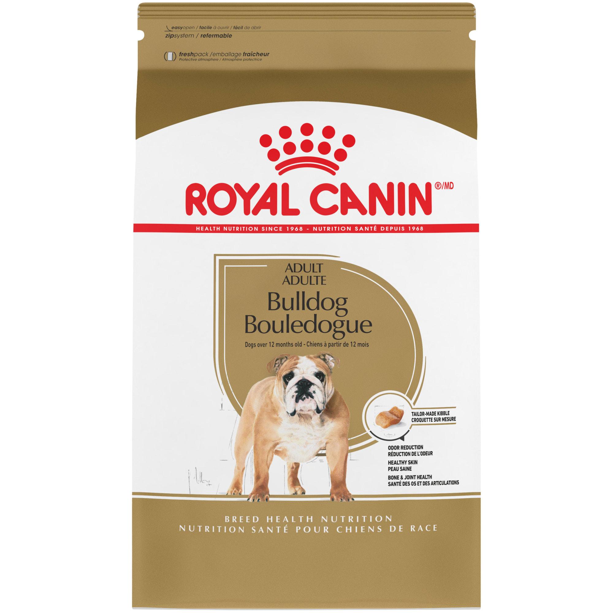 Royal Canin Breed Health Nutrition Bulldog Adult Dry Dog Food 30 Lbs Petco