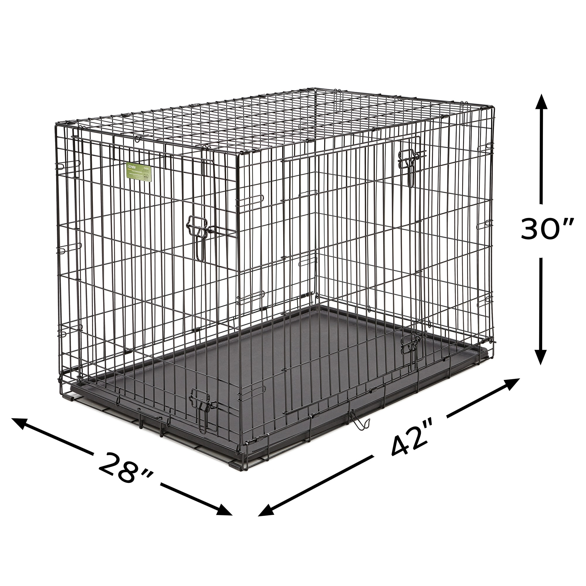 Midwest-iCrate-Double-Door-Folding-Dog-Crates thumbnail 3