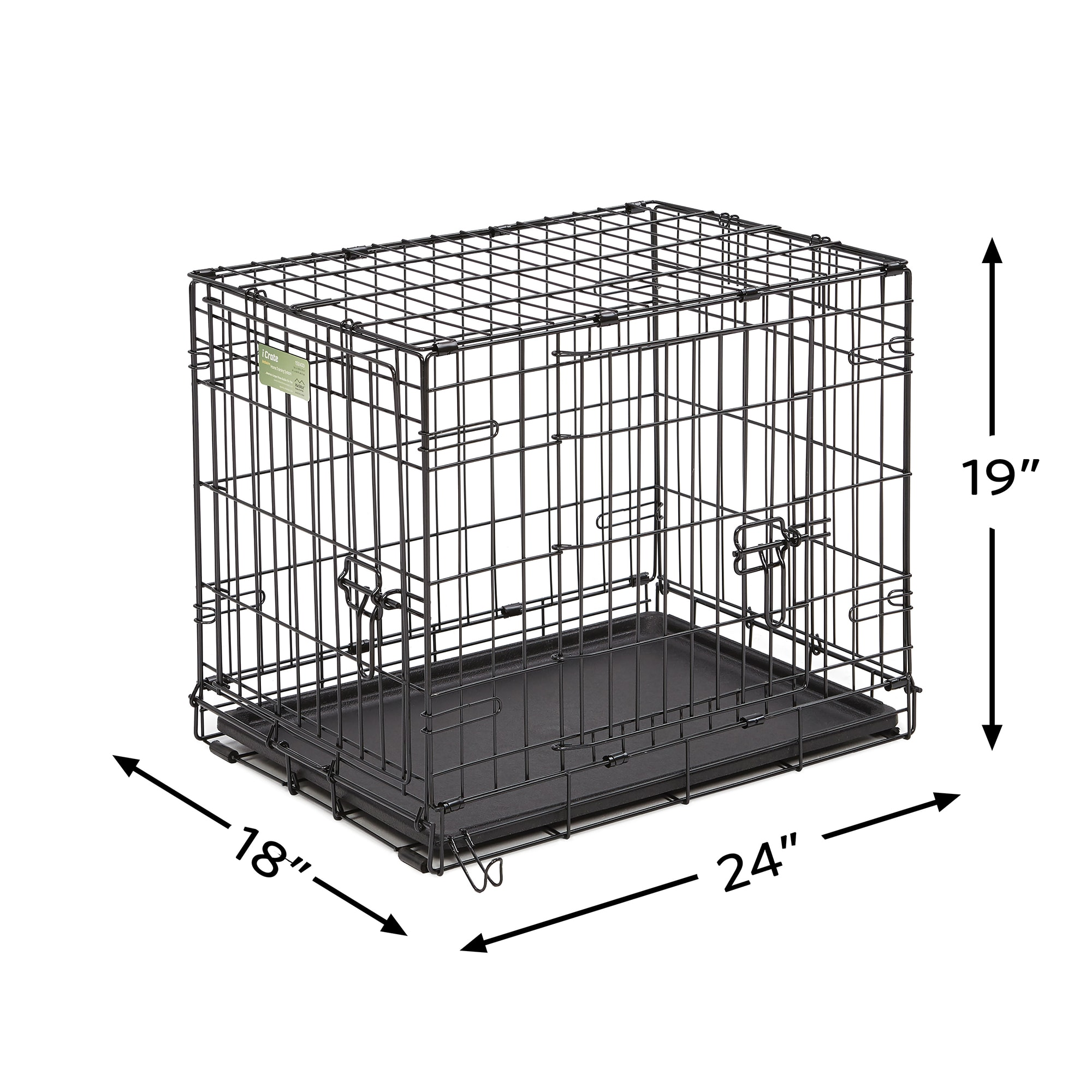 Midwest-iCrate-Double-Door-Folding-Dog-Crates thumbnail 6