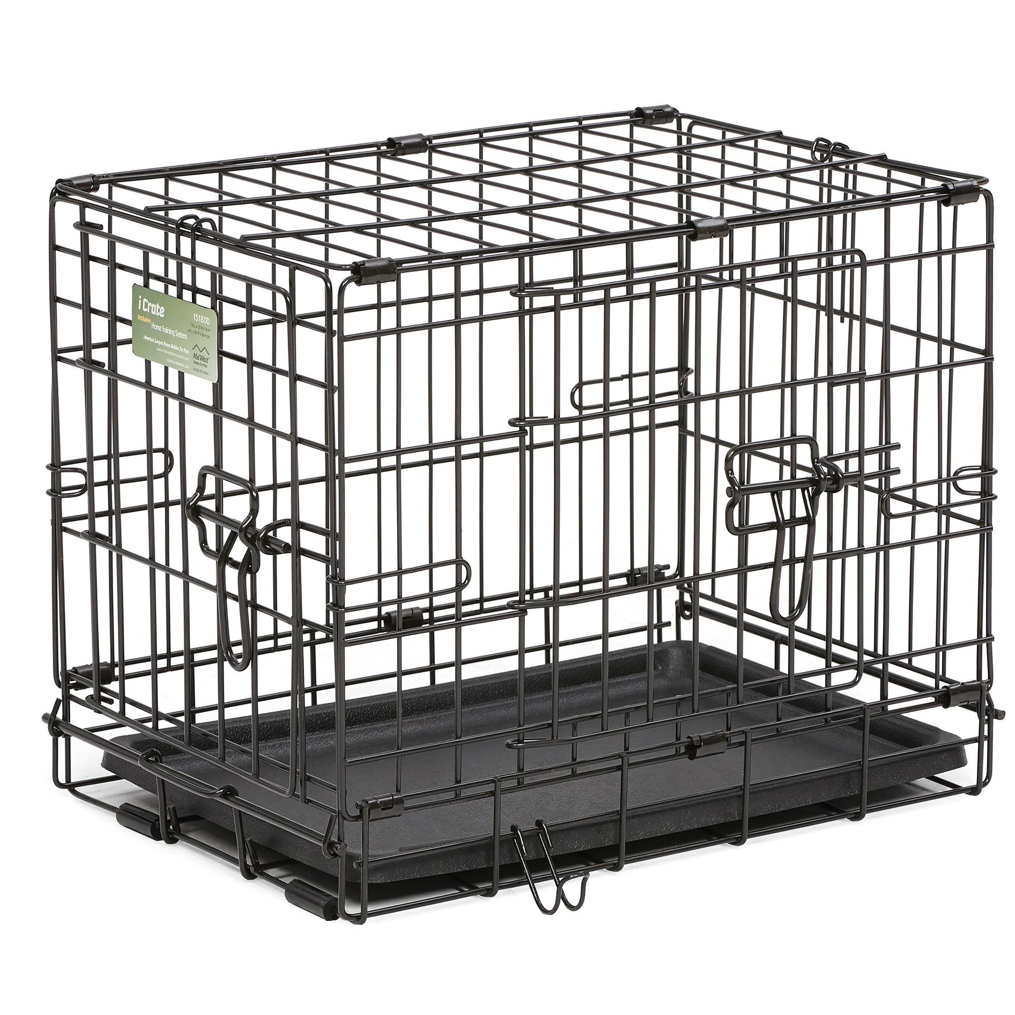 Midwest-iCrate-Double-Door-Folding-Dog-Crates thumbnail 15