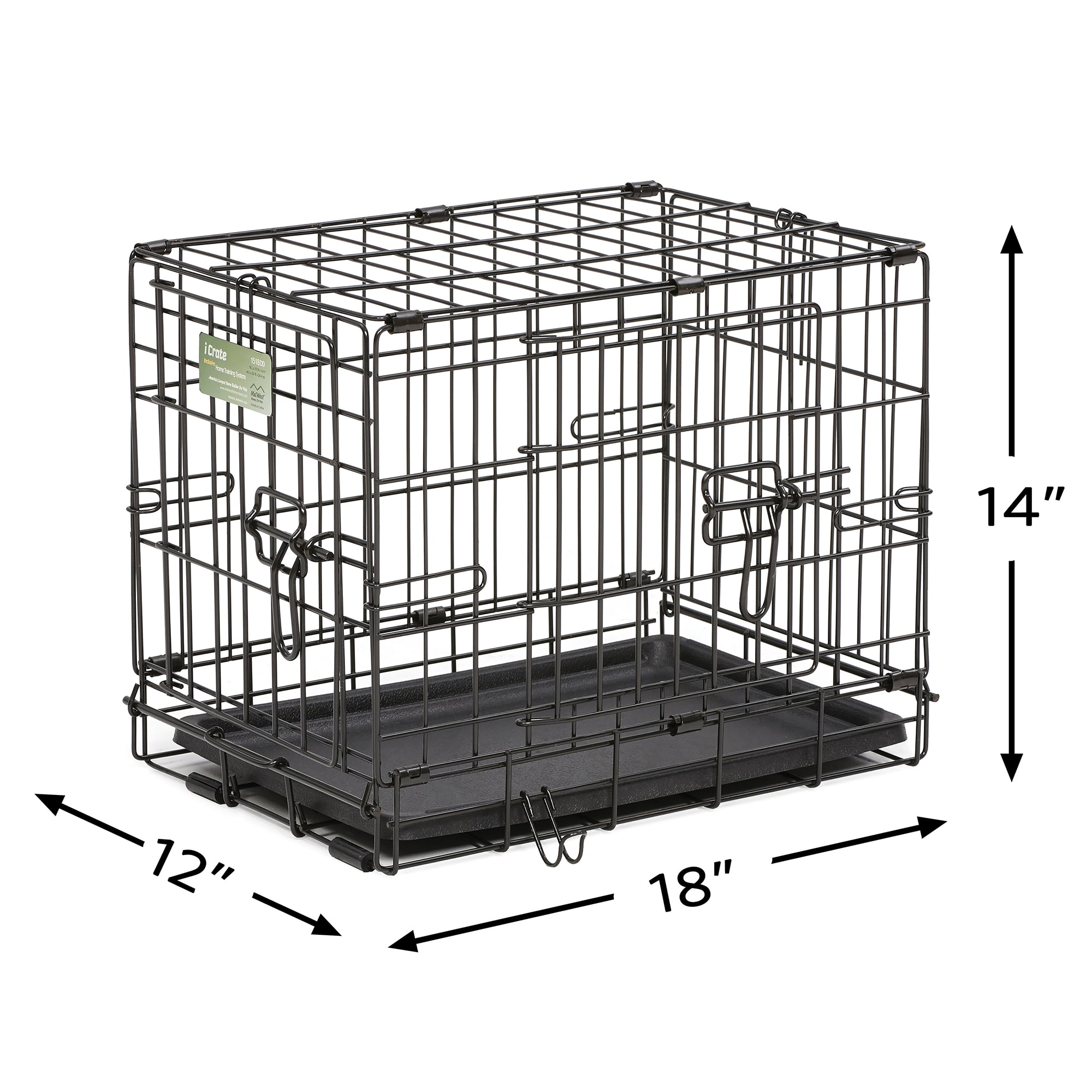 Midwest-iCrate-Double-Door-Folding-Dog-Crates thumbnail 14