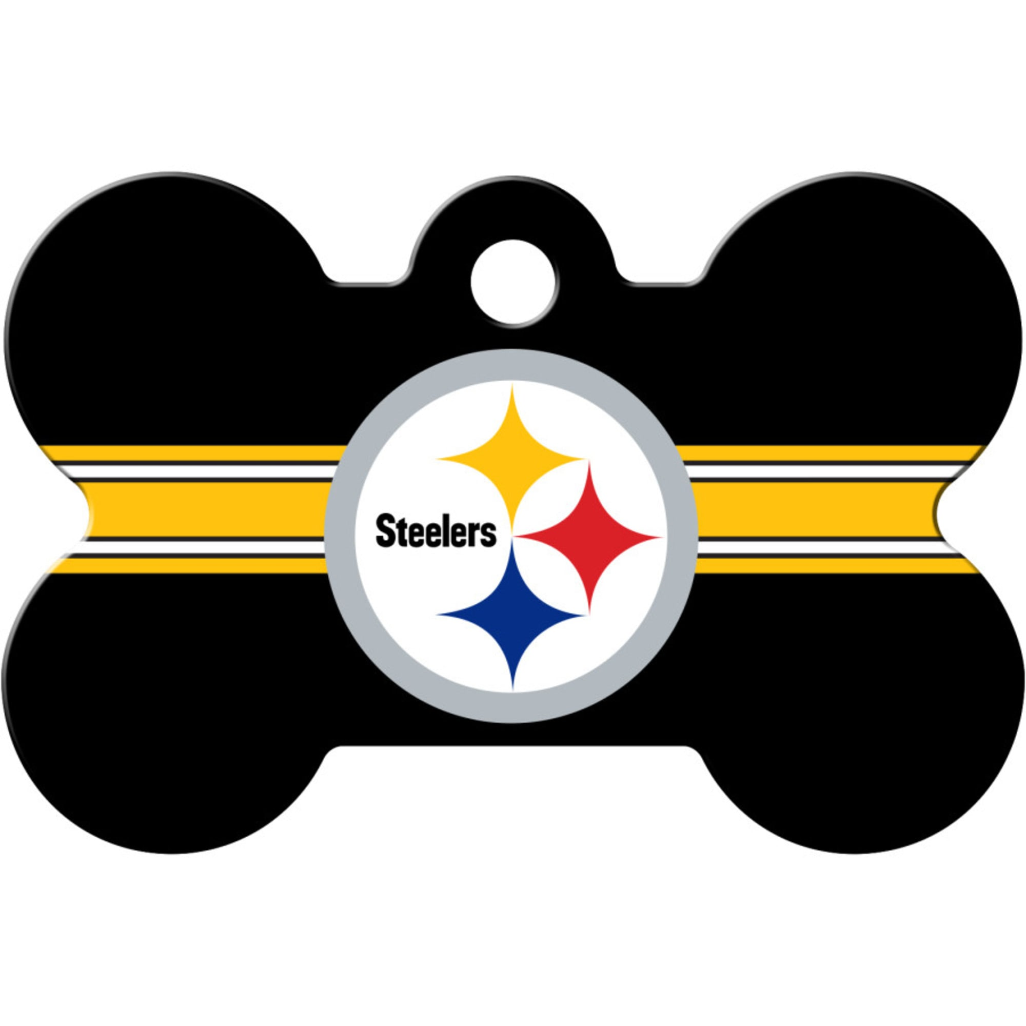Quick Tag Pittsburgh Steelers Nfl Bone Personalized Engraved Pet Id Tag Large Petco