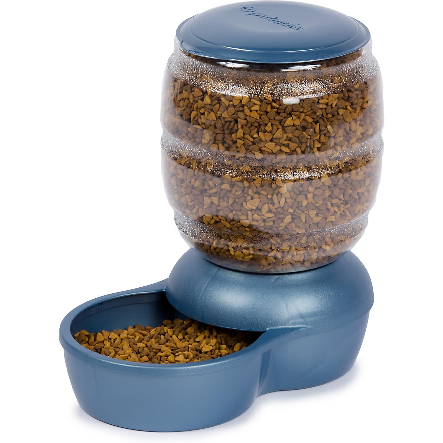 Petmate Replendish Gravity Feeder Blue Dog Bowl 18 Lb Petco
