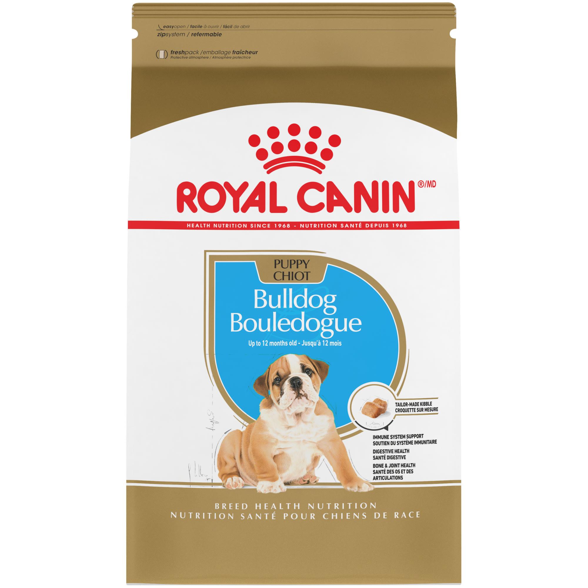 Royal Canin Breed Health Nutrition Bulldog Puppy Dry Dog Food 30 Lbs Petco