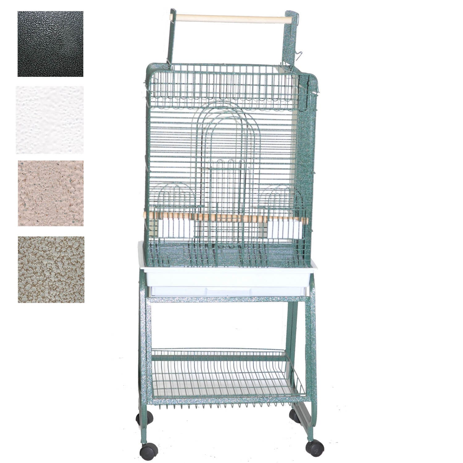"Image of A&E Cage Company Play Top Bird Cage with Removable Stand, 22"" L X 18"" W X 62"" H, Black, Small"