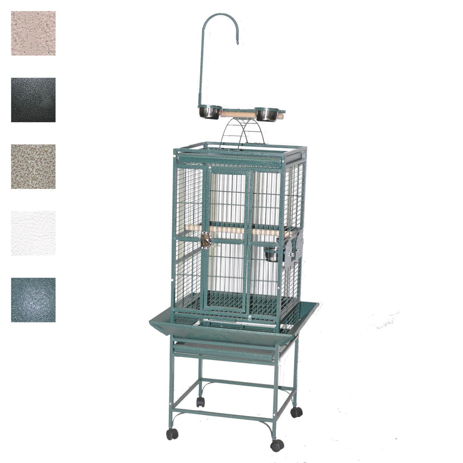 "Image of A&E Cage Company 18"" X 18"" Play Top Bird Cage in Black"
