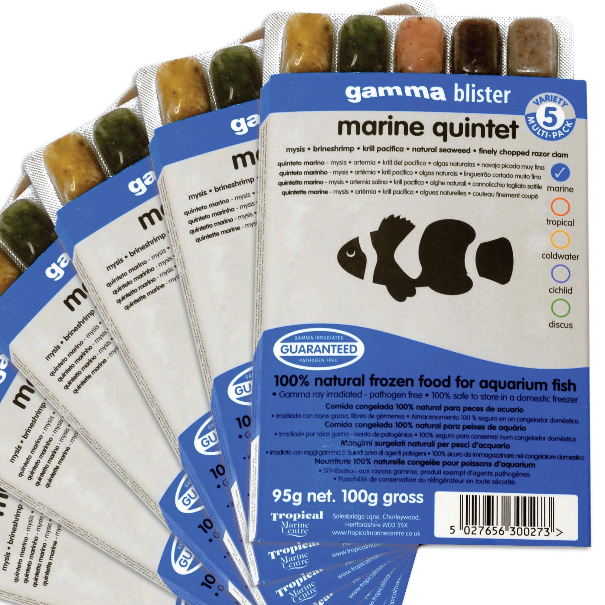 Gamma Frozen Food Marine Quintet Blister Pack Fish Food ...