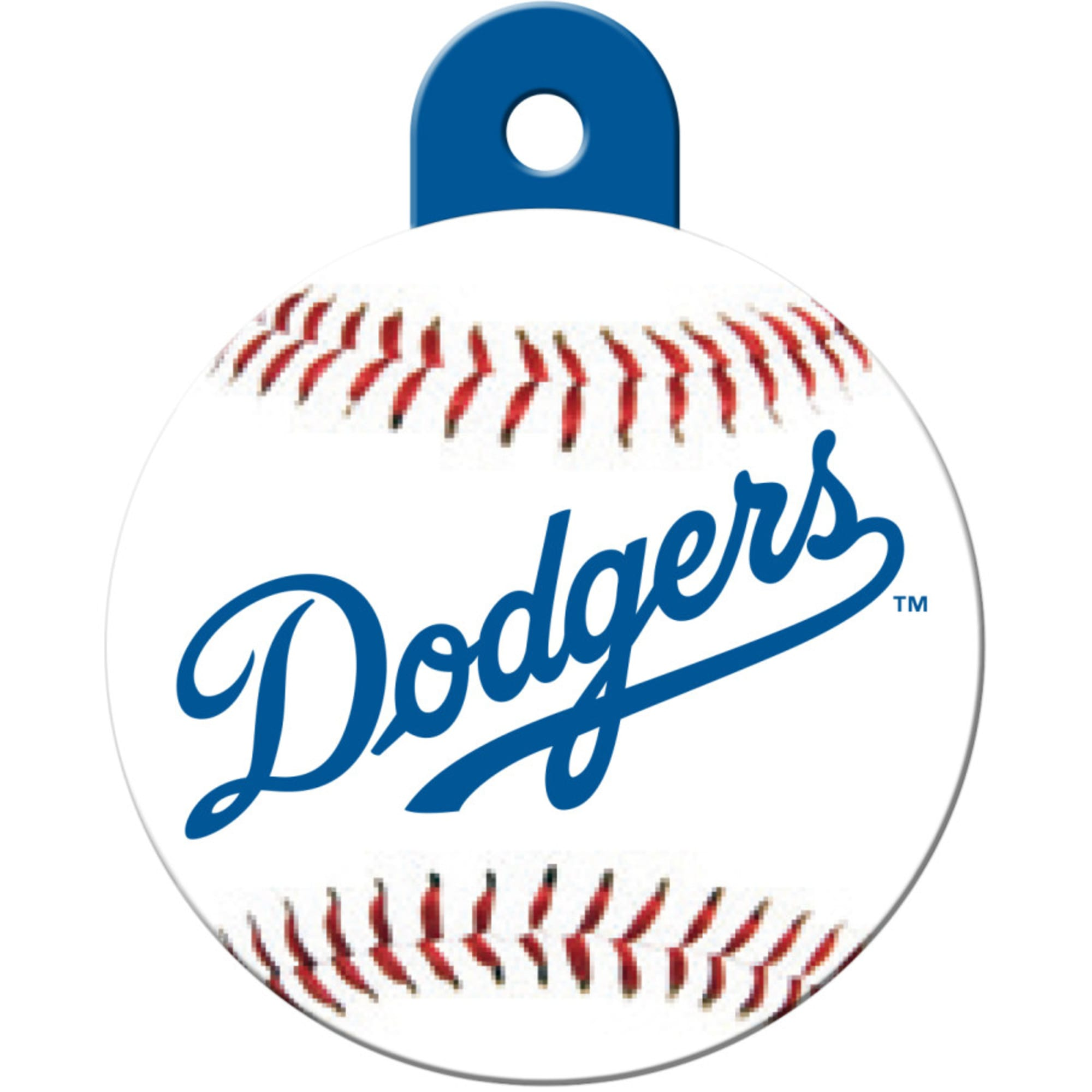 Quick Tag Los Angeles Dodgers Mlb Personalized Engraved Pet Id Tag 1 1 4 W X 1 1 2 H Petco