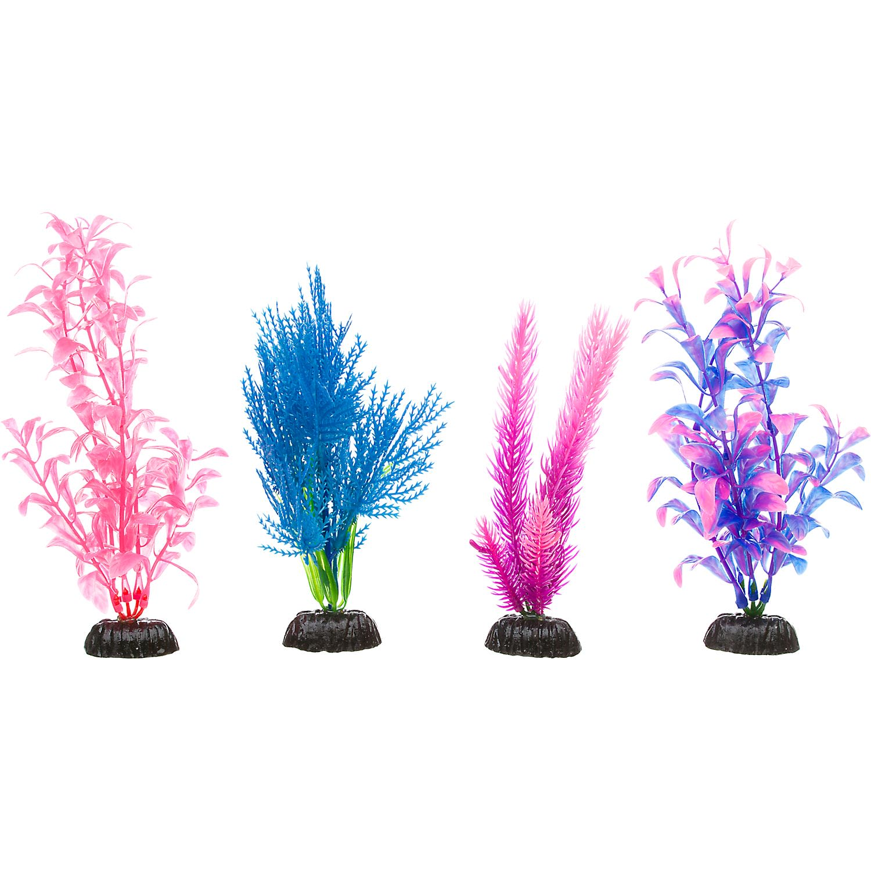 Imagitarium Colorful Plastic Aquarium Plants Foreground Value Pack Petco