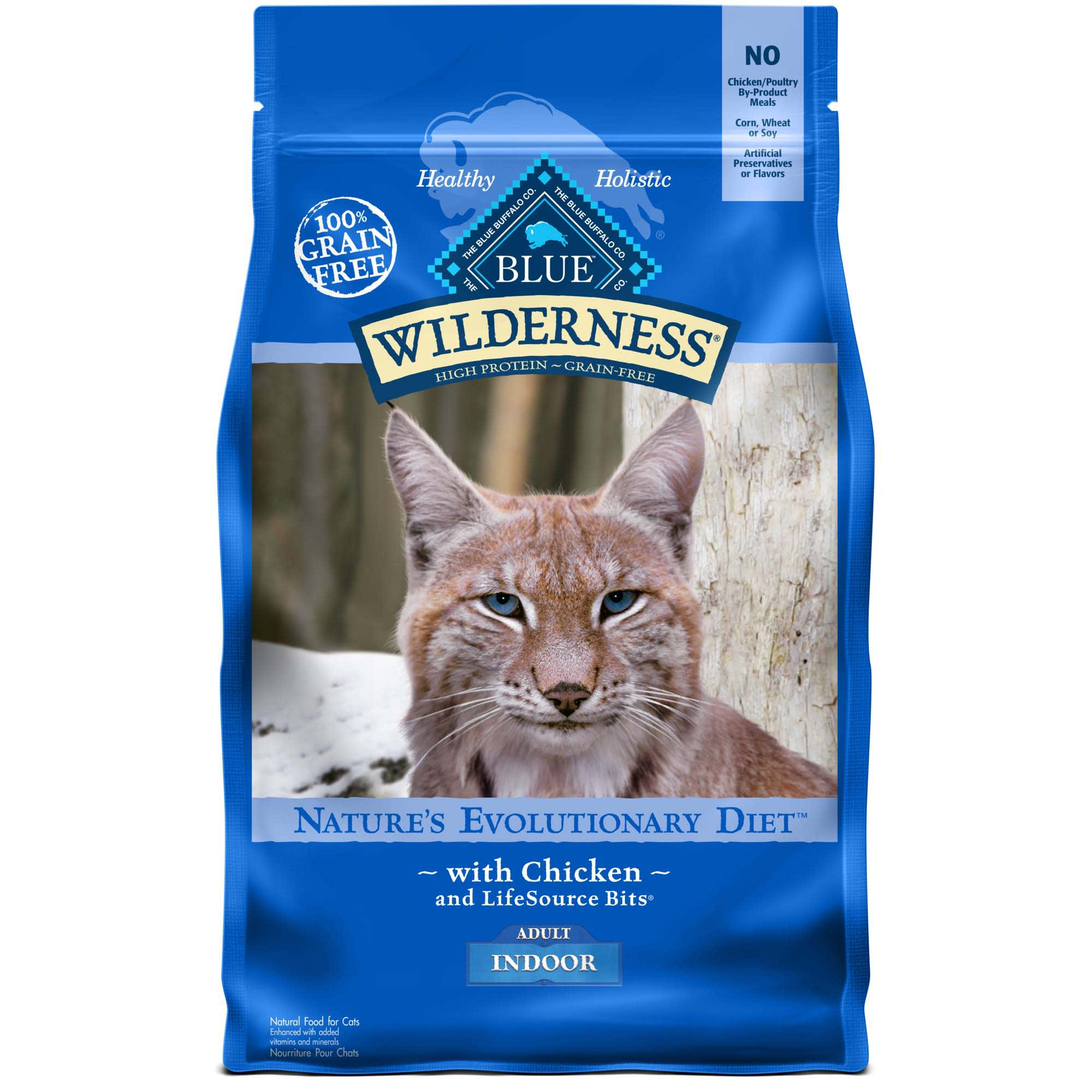 Blue Buffalo Blue Wilderness Adult Indoor Chicken Recipe Dry Cat Food 11 Lbs Petco