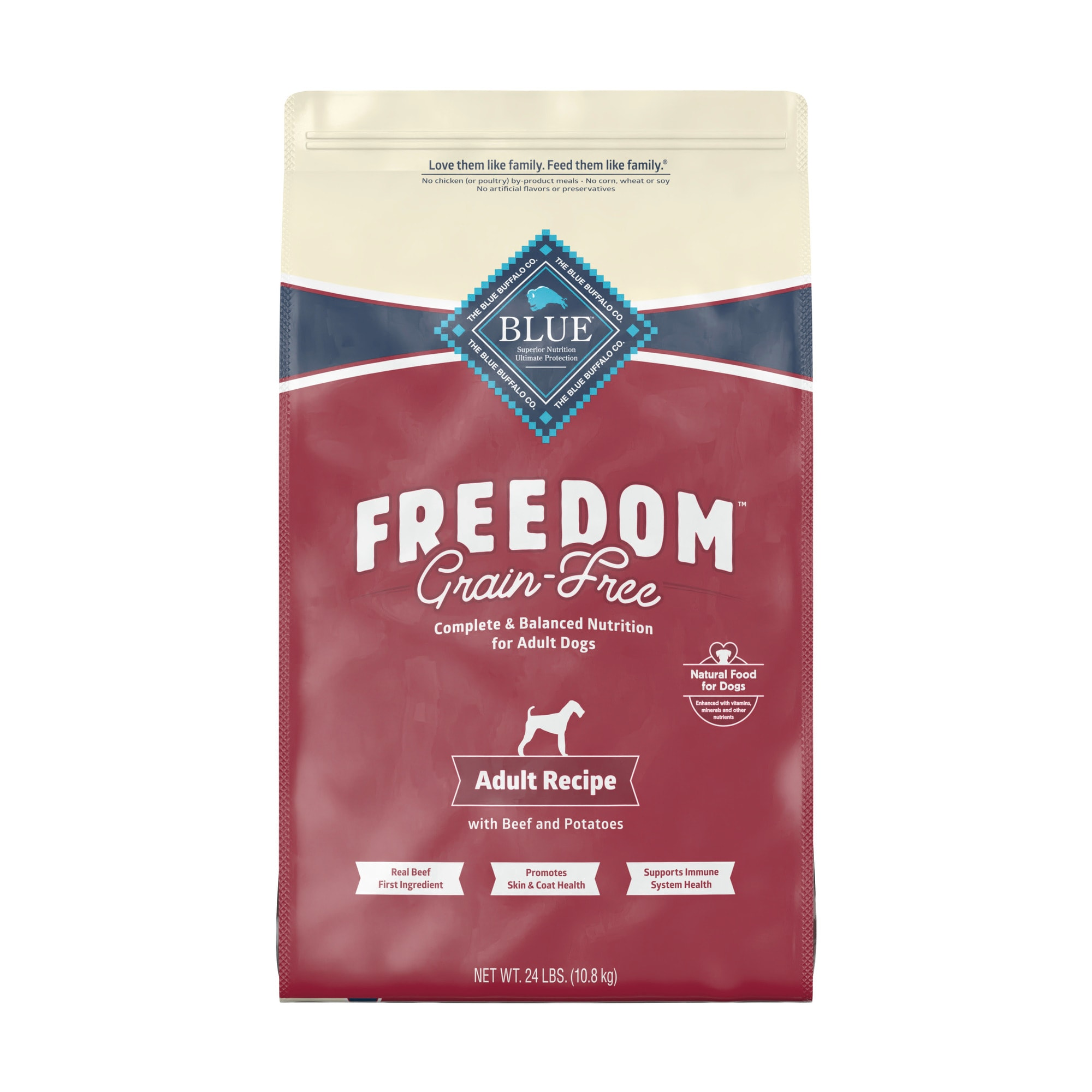 Free Adult Photos blue buffalo blue freedom grain-free adult beef recipe dry dog food
