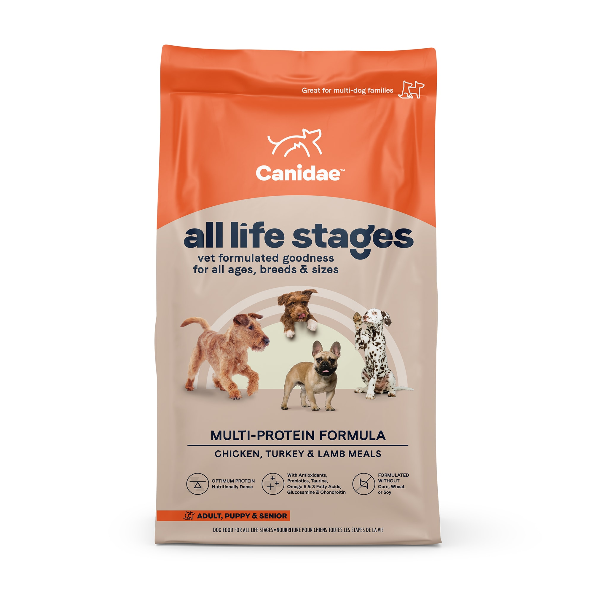 CANIDAE All Life Stages Chicken, Turkey, Lamb & Fish Meals Formula Dry Dog  Food, 44 lbs. | Petco
