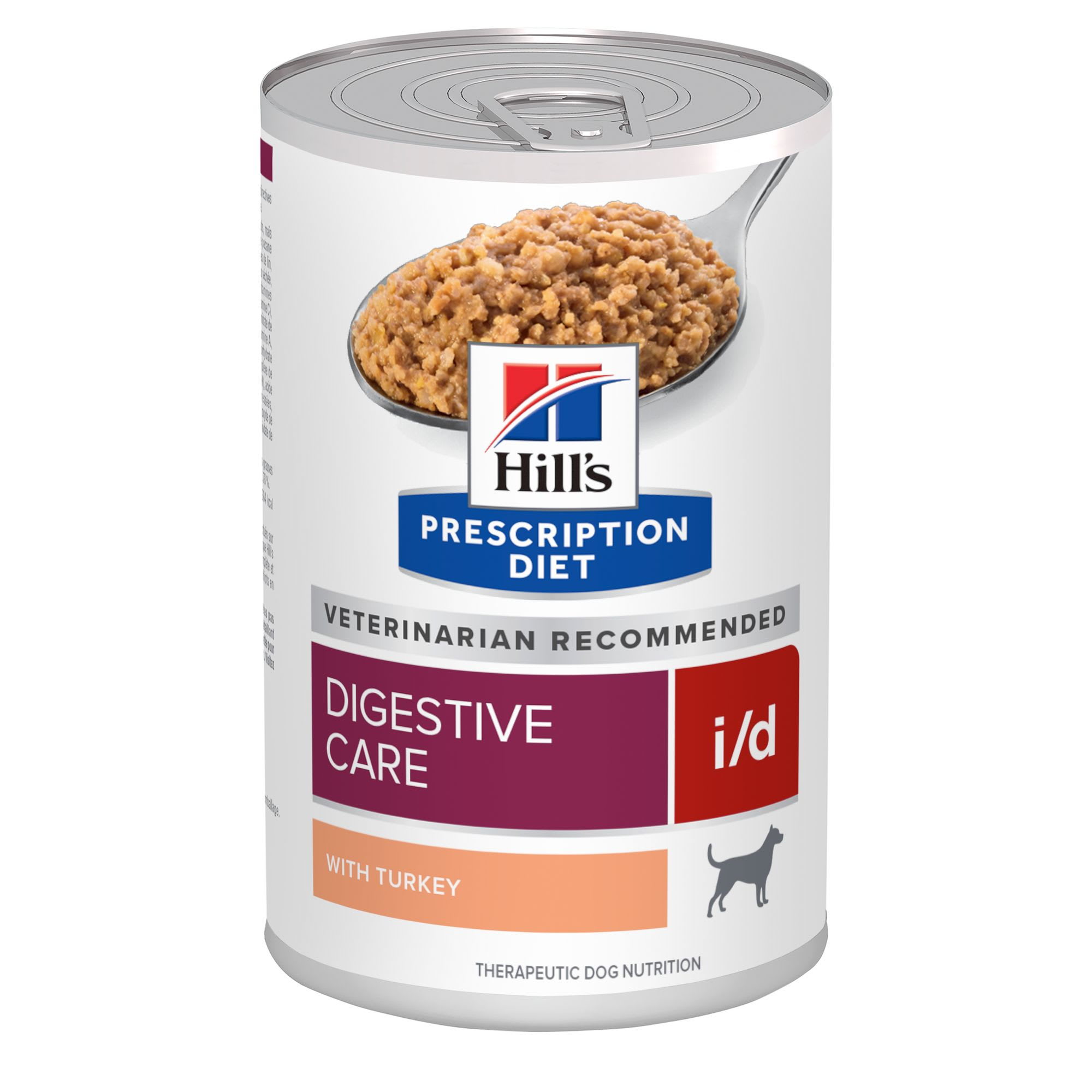 Hill S Prescription Diet I D Digestive Care With Turkey Canned Dog Food 13 Oz Case Of 12 Petco