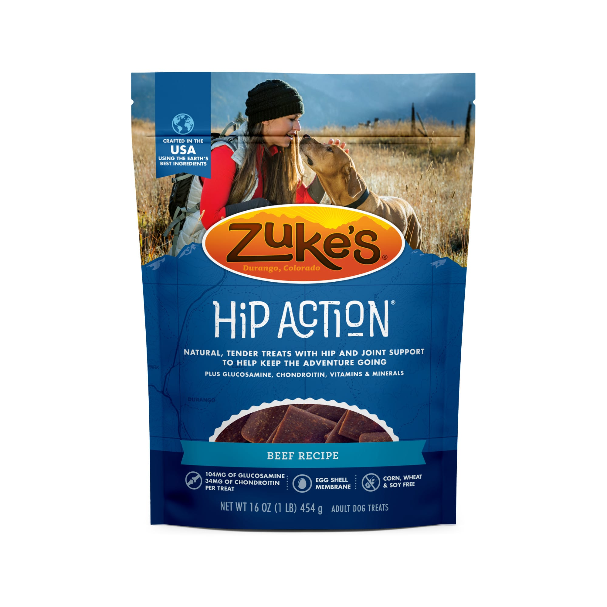Image of Zuke's Natural Hip Action Roasted Beef Recipe Dog Treats