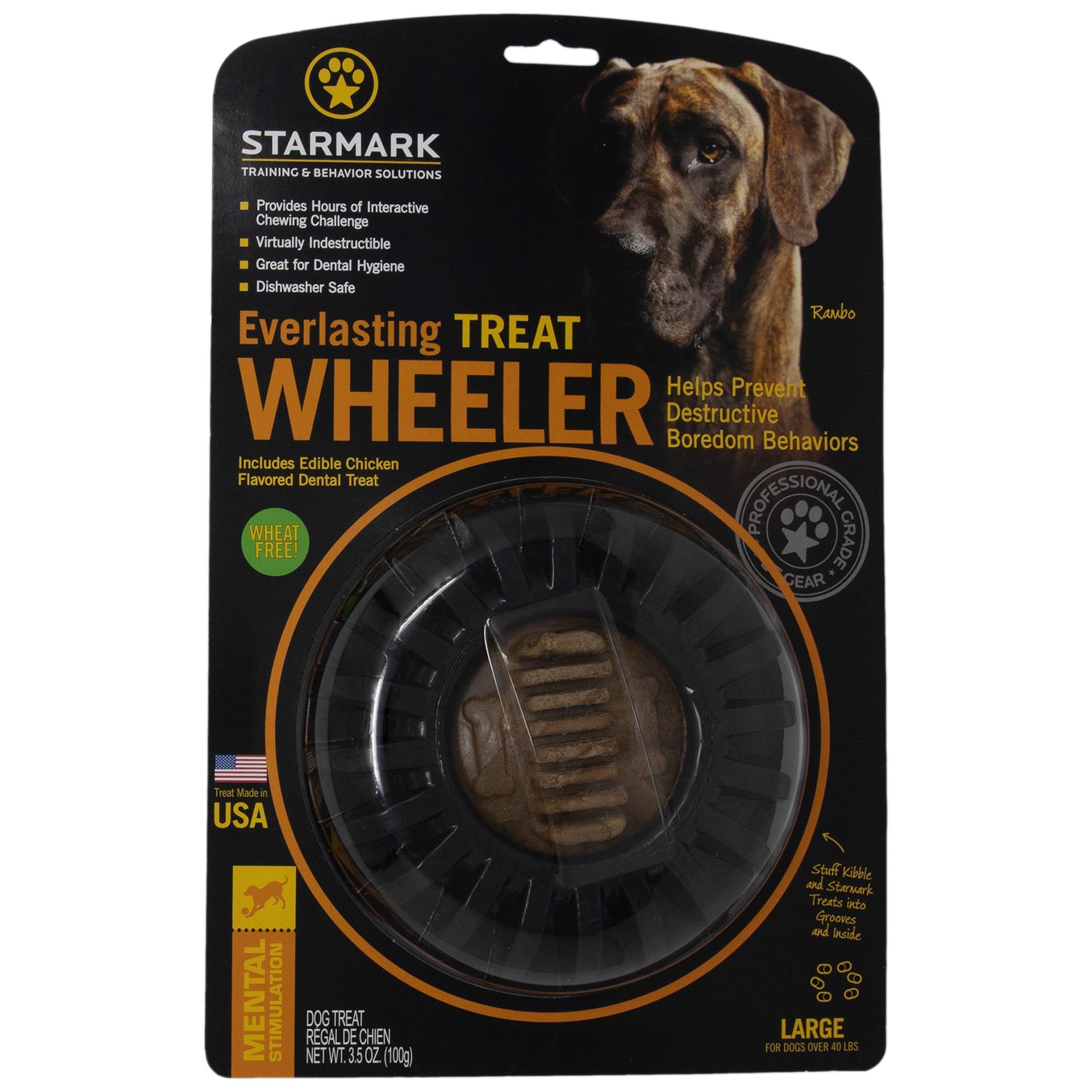 Starmark Everlasting Treat Wheeler for Dogs, Large, Black