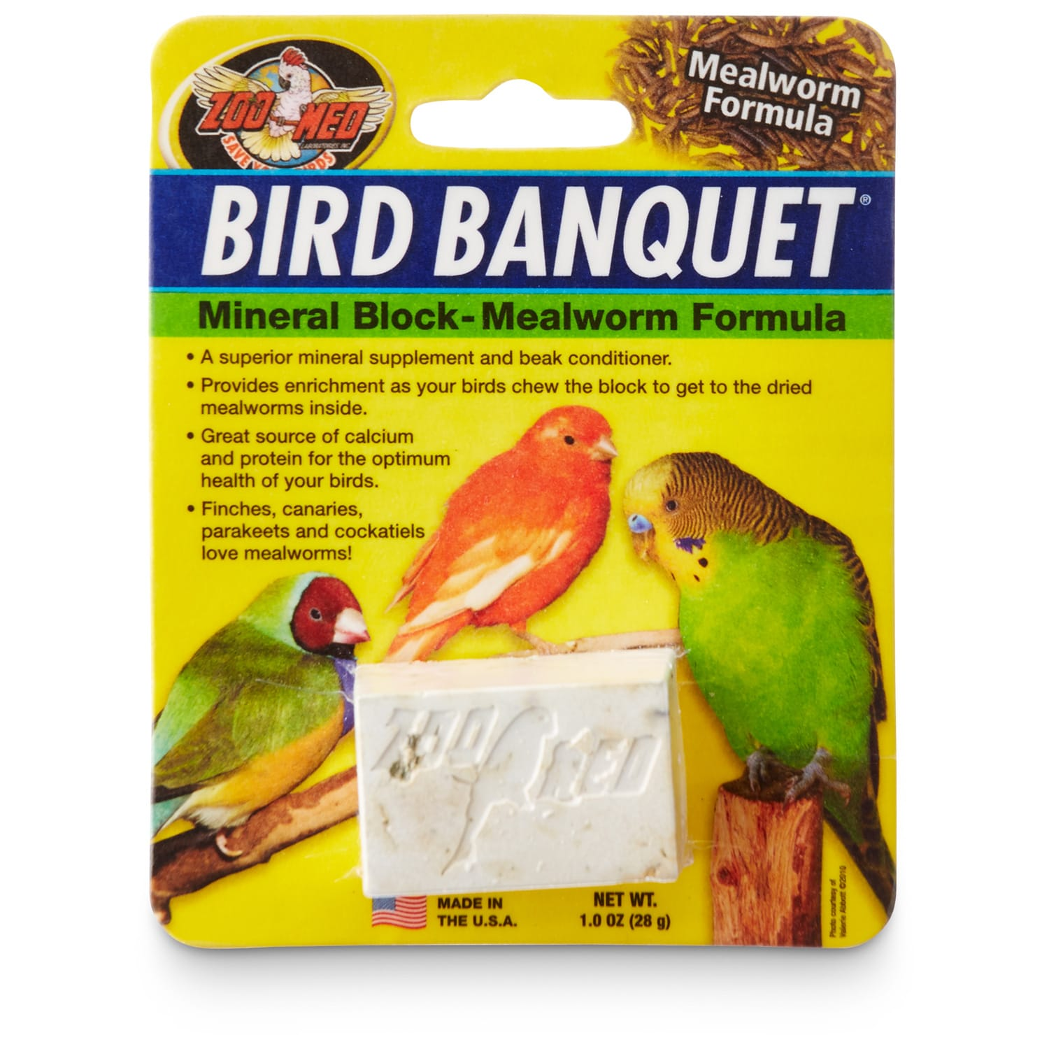 1 oz., Small, A superior mineral supplement and beak conditioner. Also a great source of calcium for the optimum health of your bird. Provides enrichment as your bird chews the block.