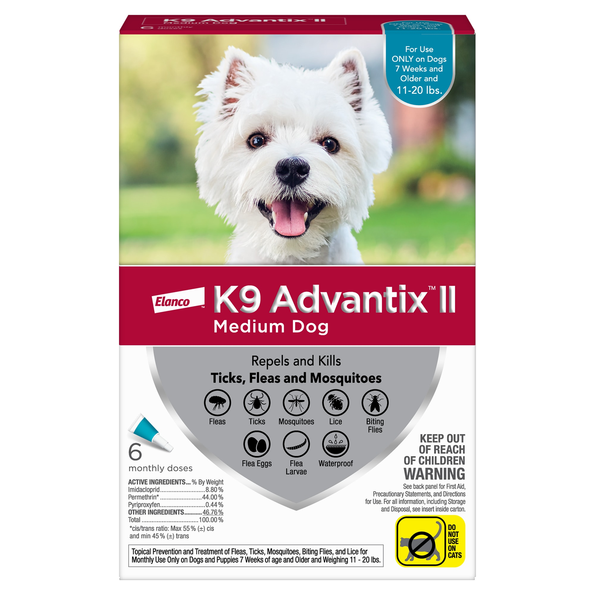 K9 Advantix II for Dogs 6-Month Supply 11-20lb -  UNITED PACIFIC PET, 5420380