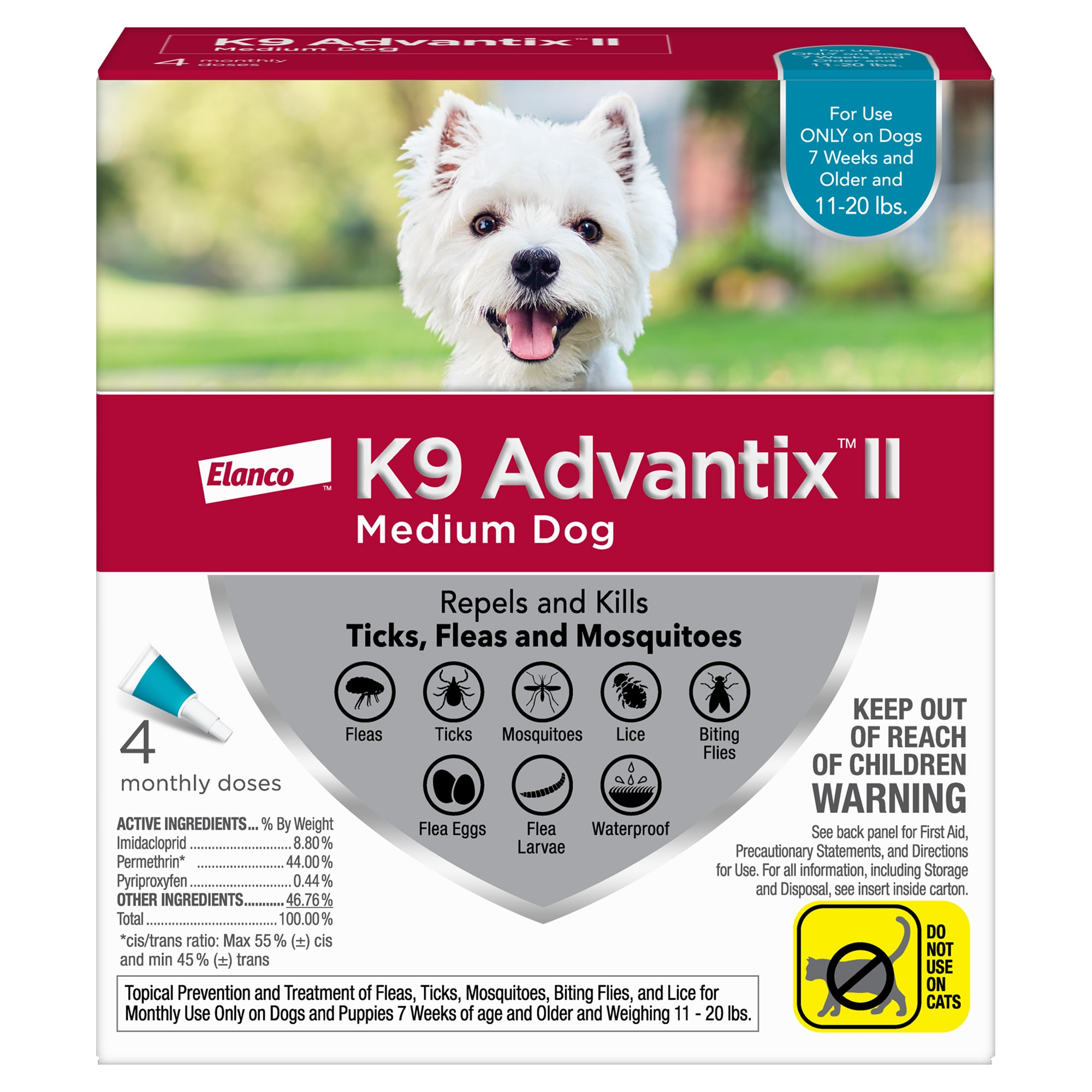 K9 Advantix II for Dogs 4-Month Supply 11-20lb -  UNITED PACIFIC PET, 5420372