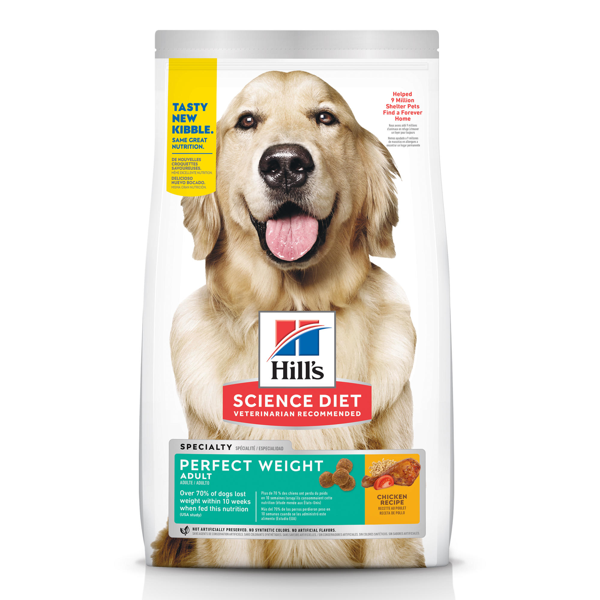 Hill S Science Diet Adult Perfect Weight Chicken Recipe Dry Dog Food 28 5 Lbs Petco