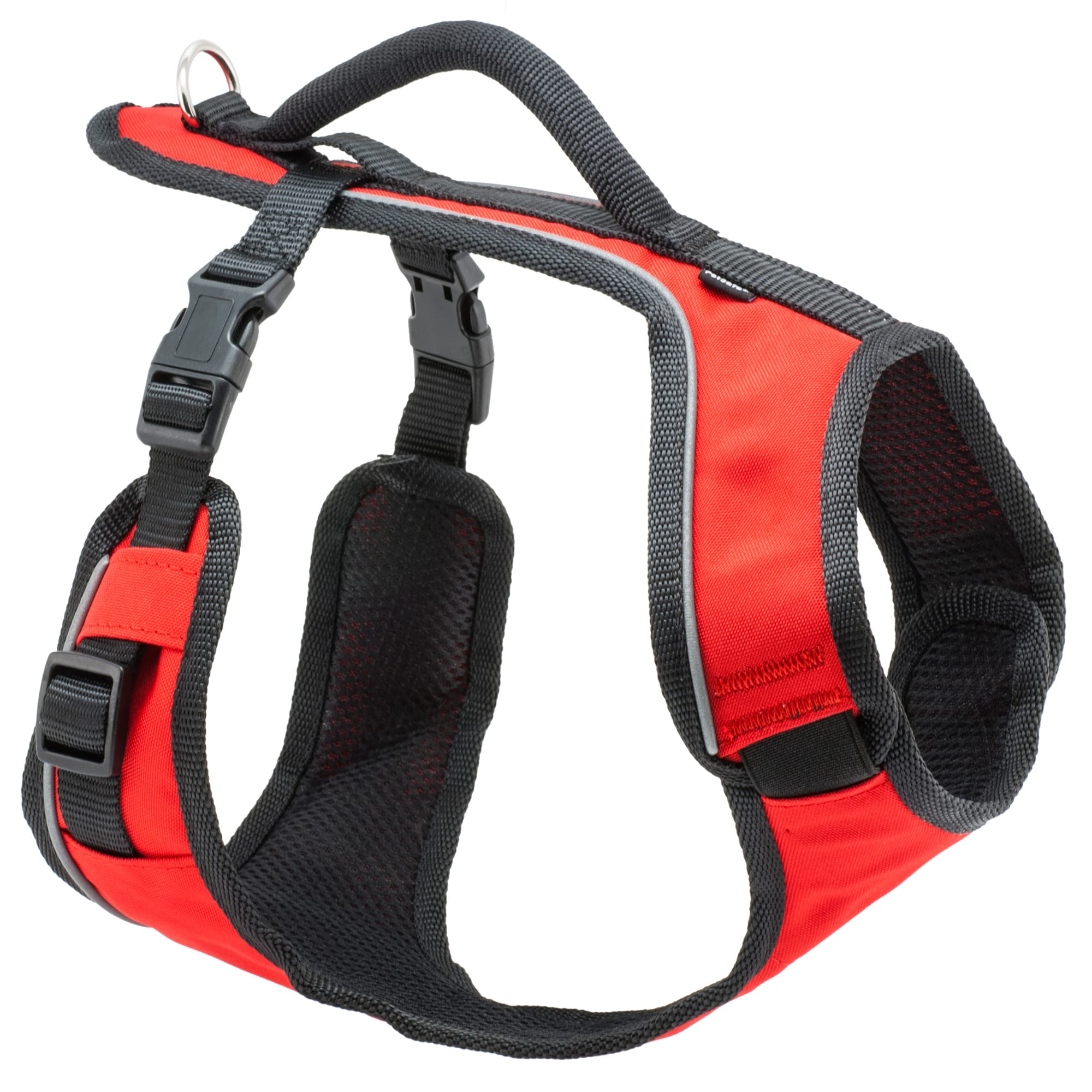 Take your dog on all of life\\\'s adventures in comfort and style with the PetSafe(Registered Trademark) EasySport Harness. The harness is fully adjustable and padded for comfort and features an elasticized neckline for a cozy fit. Two quick-snap buckles make the EasySport Harness easier to get on and off. The top handle provides an extra degree of safety when you need to control your dog quickly. Ideal for everyday wear, the EasySport Harness lets your dog enjoy life\\\'s adventures in comfort and style.