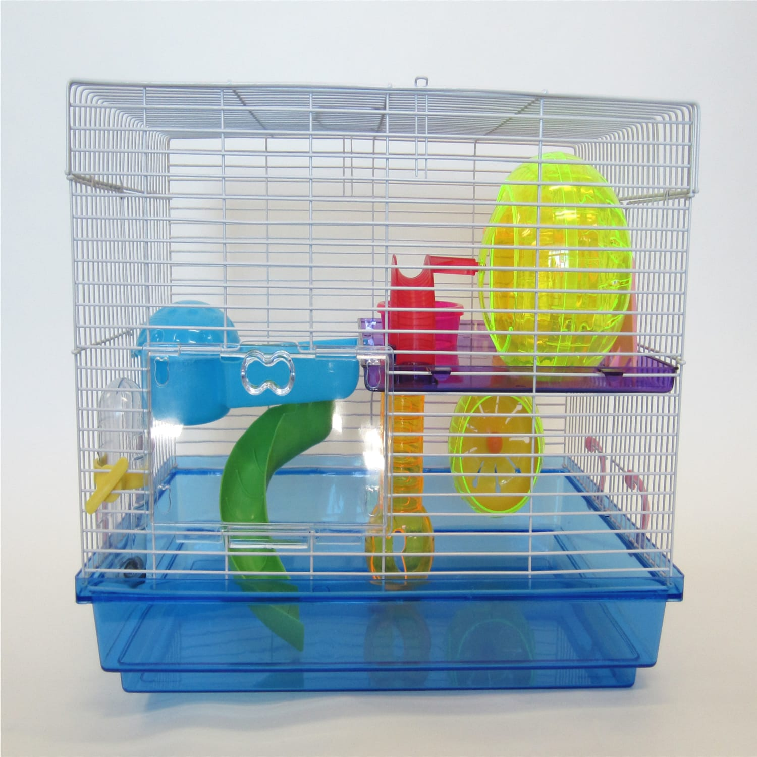 "Image of YML Blue Large Hamster Cage, 18"" L X 12"" W X 12"" H"