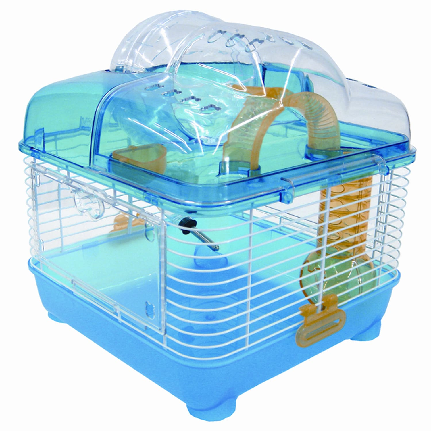 "Image of YML Clear Blue Hamster Cage, 10"" L X 10"" W X 12"" H, 10 IN"