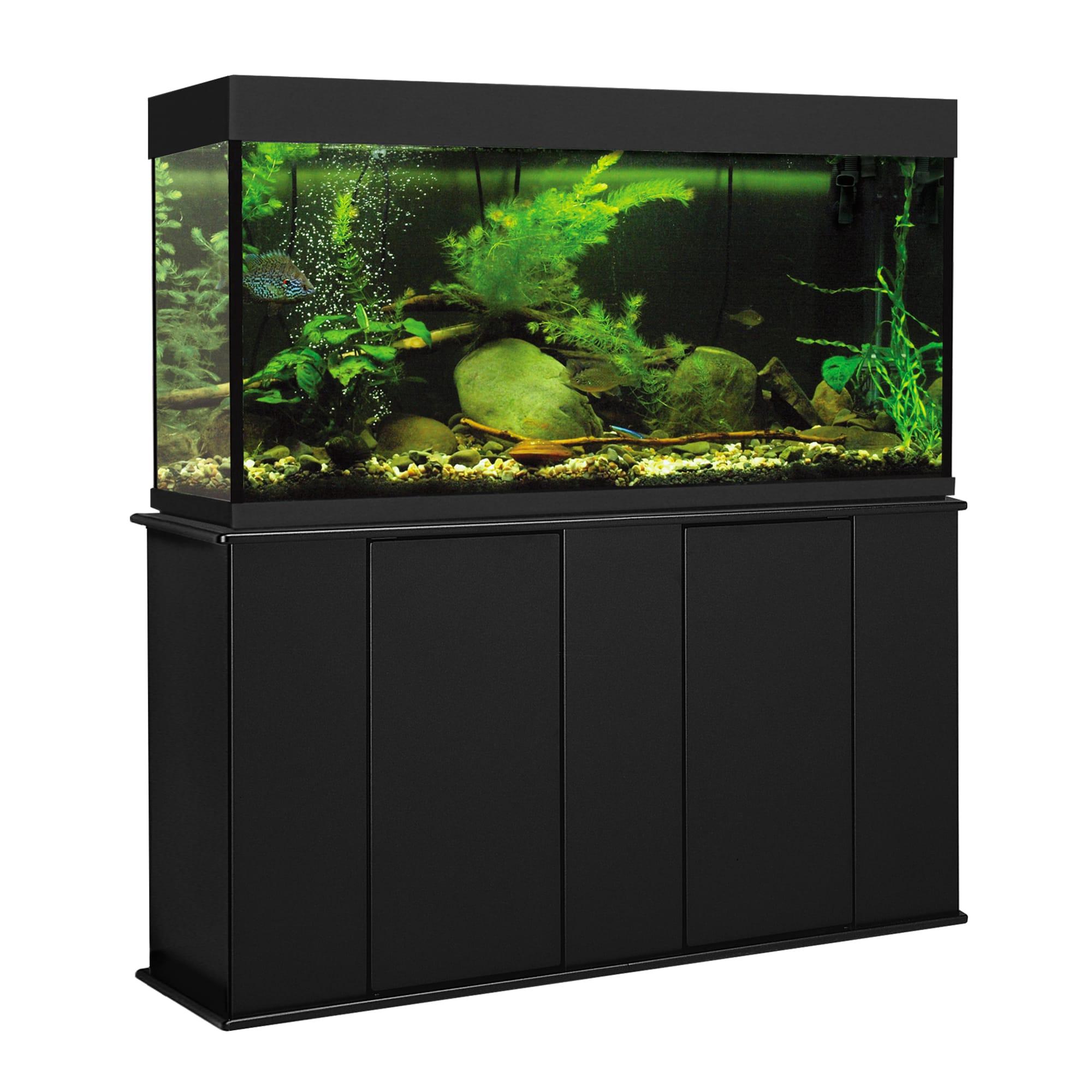 Aquatic Fundamentals Black Upright Aquarium Stand For 55 Gallon Aquariums Petco