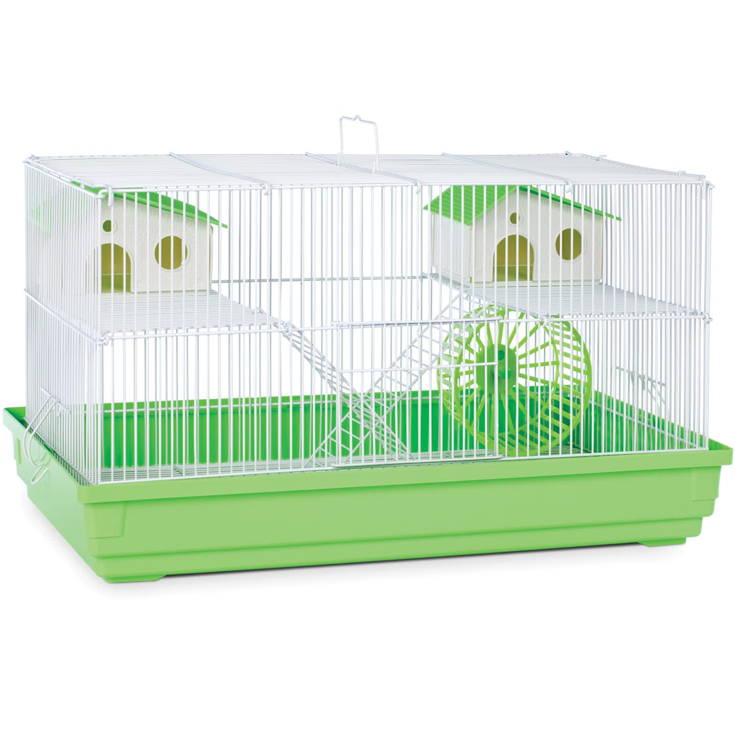 Prevue Pet Products Lime Green White Deluxe Small Animal Cage 23 L X 12 75 W X 12 75 H Petco