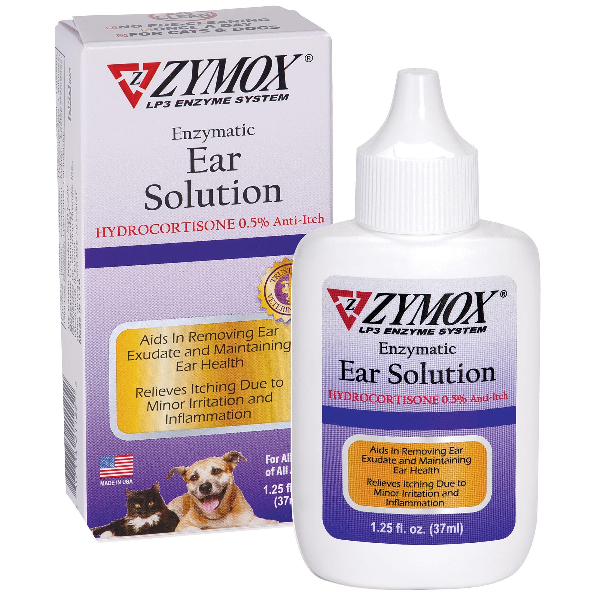 Zymox Ear Solution with .5% Hydrocortisone, 1.25 fl. oz. | Petco
