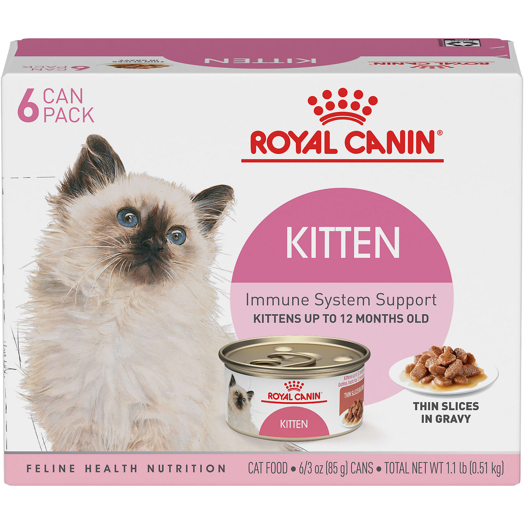 Royal Canin Feline Health Nutrition Thin Slices In Gravy Variety Pack Wet Kitten Food 3 Oz Count Of 12 Petco