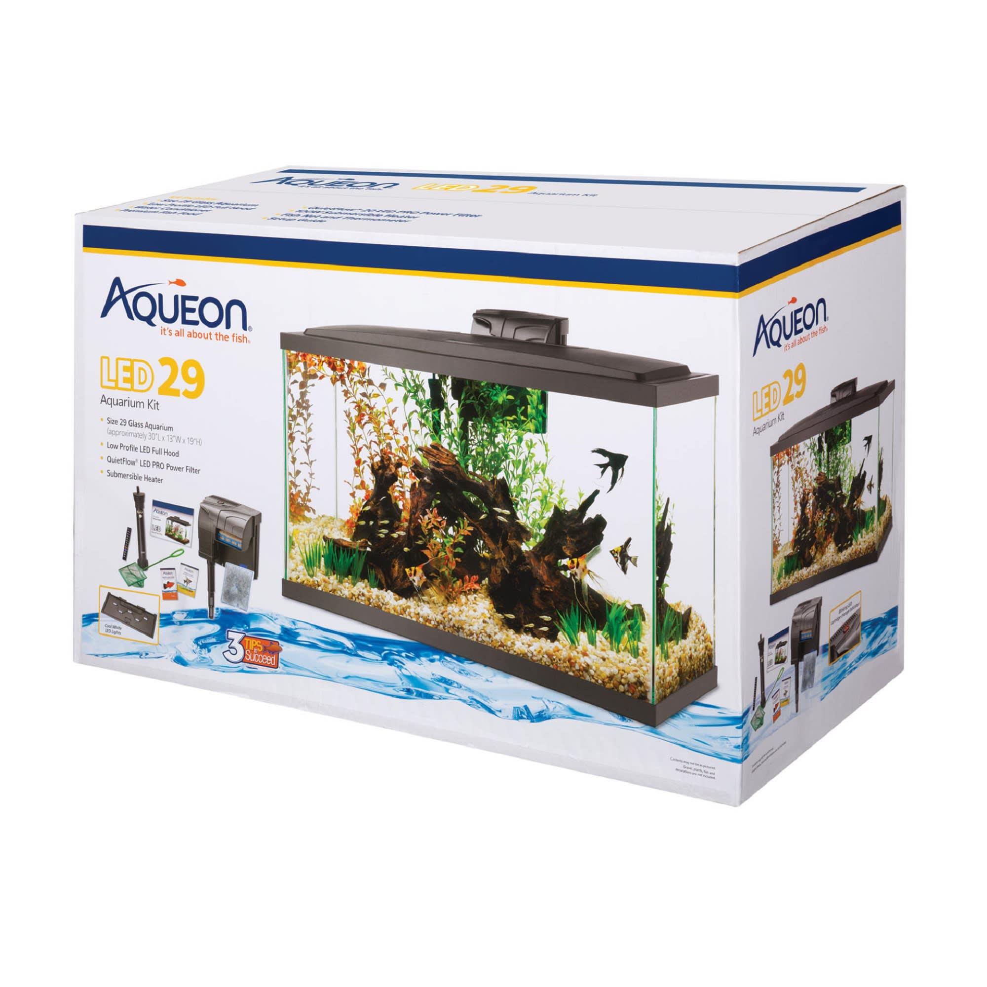 Aqueon Led 29 Gallon Aquarium Kit 32 25 L X 14 25 W X 20 63 H Petco
